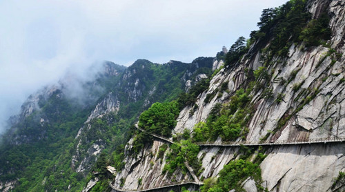 2229岳西明堂山玻璃栈道, 大别山(彩虹瀑布,猴河峡谷